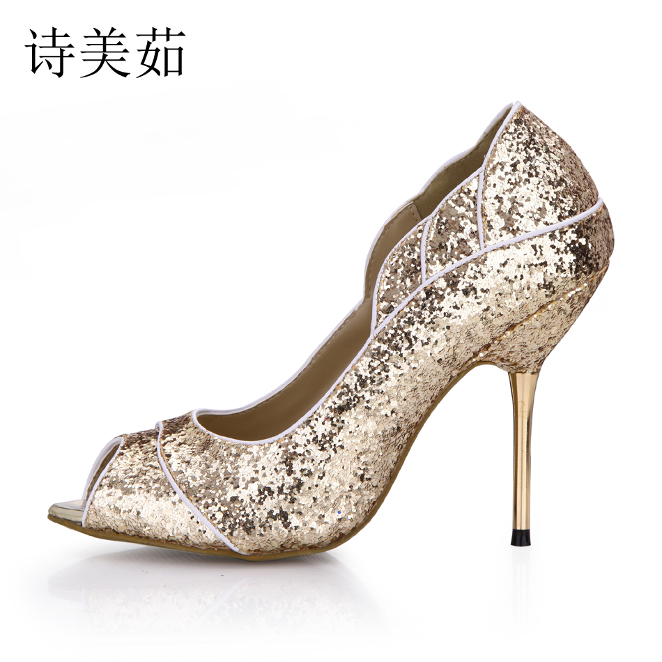 women sexy super high heels platform shoes 2015 elegant red bottom cross strap pumps ladies wedding stiletto shoes mujer zapatos Sexy Red Bottom Gold Purple Black Glitter Wedding Party Pumps Women Peep Toe High Heels Girl Bridal Shoes Zapatos Mujer 3845C-2a