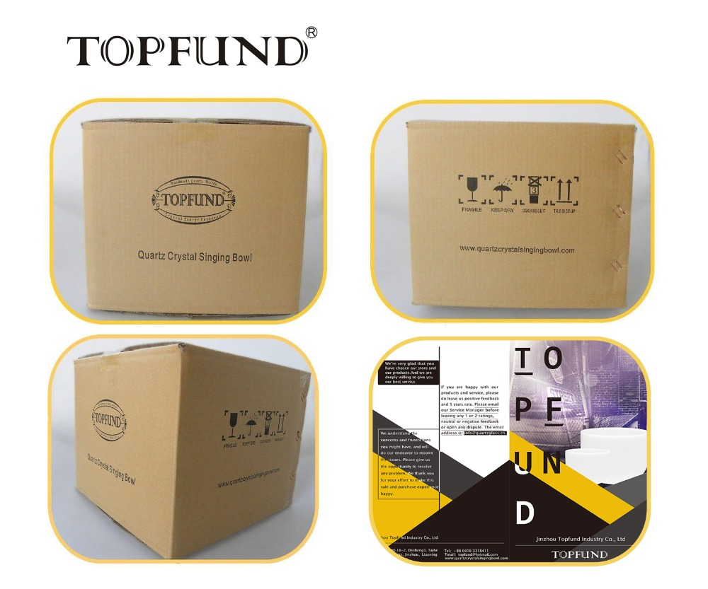 TOPFUND 432Hz Tuned F# Note Thymus Chakra Frosted Quartz Crystal Sining Bowl 10 ,O ring and Mallet included,For Meditation