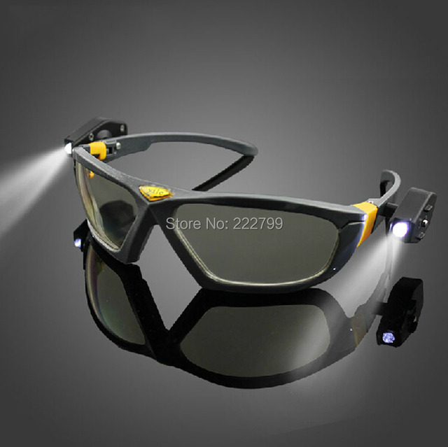 lamp Night vision goggles High brightness light reading cycling night glasses protective safe work glasses free shipping