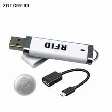 Free shipping MINI U-disk style USB port  ISO15693 13.56Mhz NFC RFID reader 13.56MHz Ntag-203 Reader+ Ntag 203 5 pcs