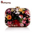Latest Women's Clutch Retro Print Evening Bag Fashion Personality PU Leather Party Handbag Purse Chain Shoulder Messenger Bag