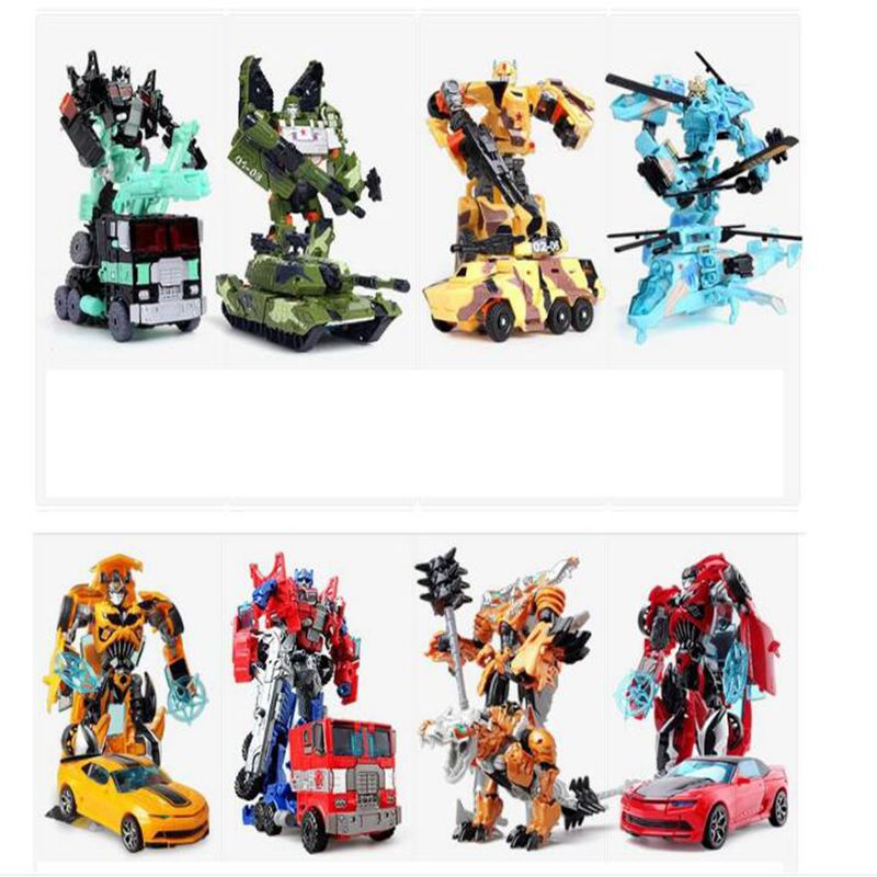 New Original Transformation 5 Robot Toy Deformation car Robot Action Figures Toys Brinquedos Children toys Gifts mini robot deformation toys car model action figure gifts for children classic toy robocar transformation brinquedos page 6