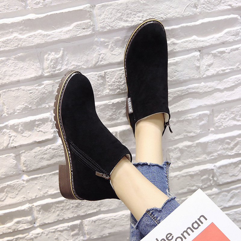 2018 new Boots Woman Shoes Winter Female Warm Fur Water-resistant Upper Fashion Non-slip Sole Free Shipping New Style Snow Boot (8)