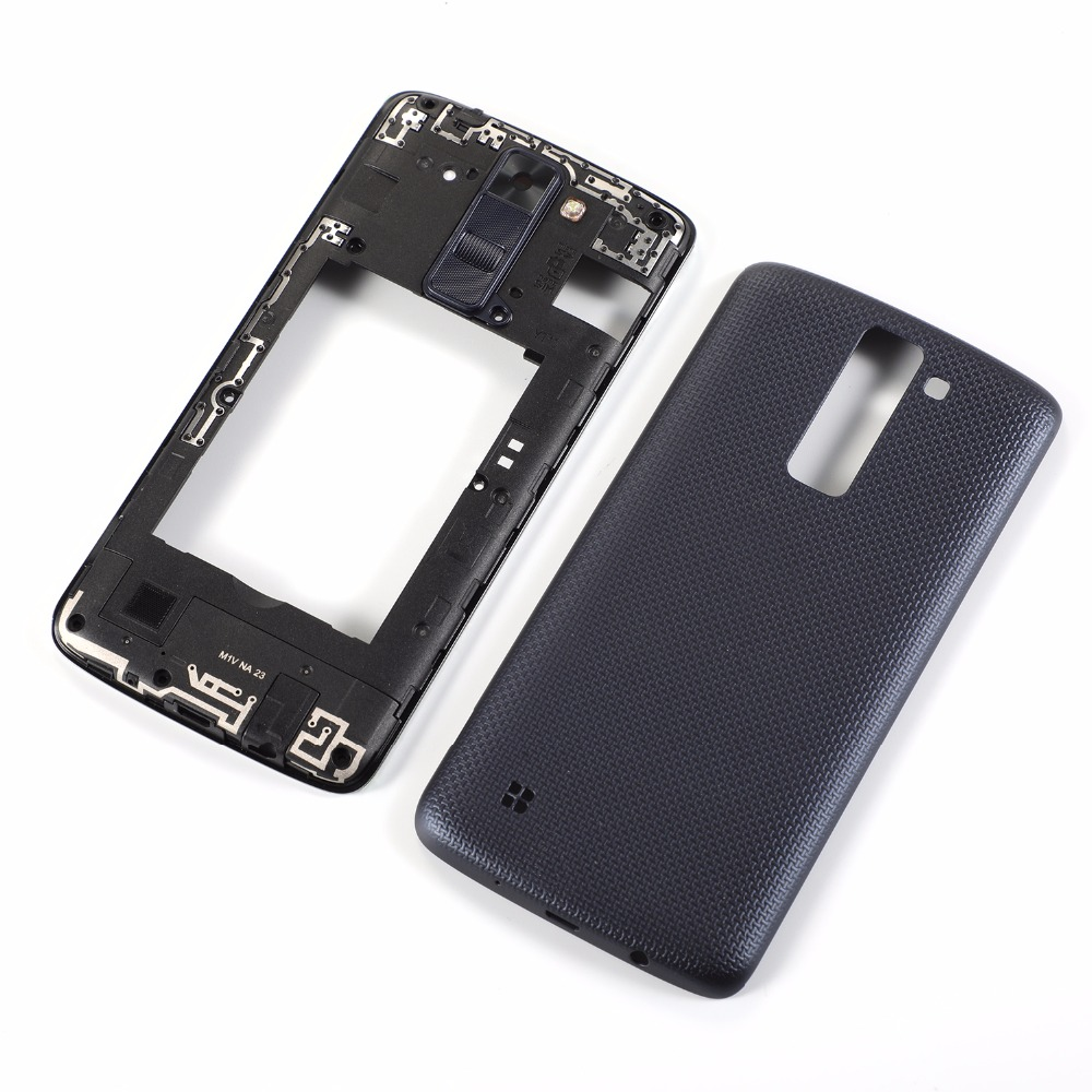 For LG K8 2016 Phoenix 2 K350DS K350N K350E US375 K371 AS375 Housing Middle Frame Cover+Battery Back Cover
