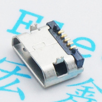 Braid micro flat pins flat USB connector female 5 p