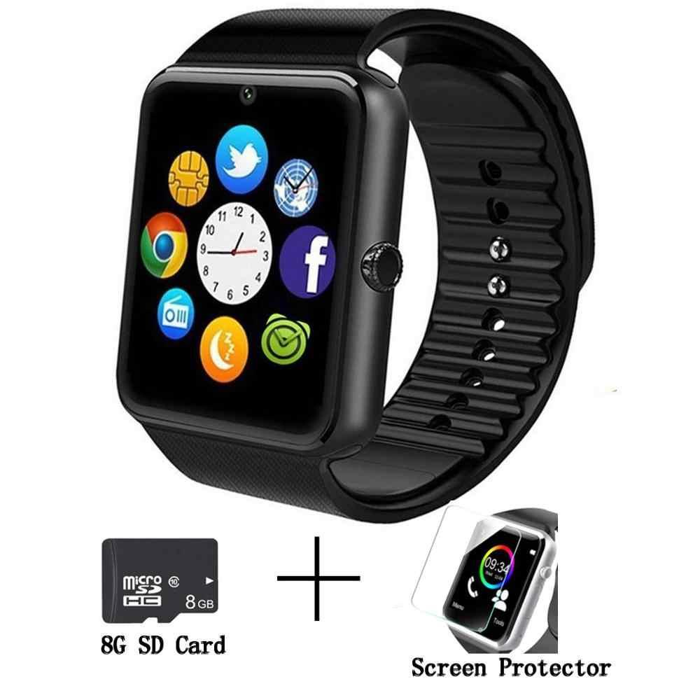 新しい Bluetooth スマートウォッチの男性と GT08 タッチスクリーンビッグバッテリーサポート TF Sim カードカメラ Ios iPhone アンドロイド電話 PK