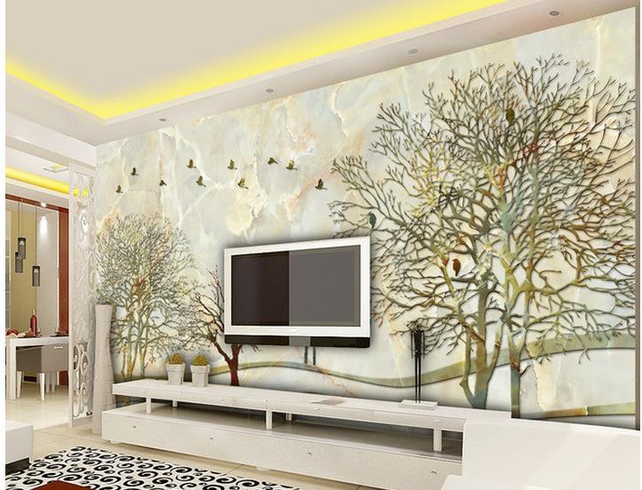 personalizzato 3d carta da parati marmo astratta foresta sfondo muro murales bagno 3d carta da parati