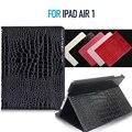 Tablet Чехол для iPad Air 1 Крокодил Текстуры PU Кожаный 2 Фолио со Встроенным Магнитом Особенности Авто Пробуждения/Сна Функция Все-новый