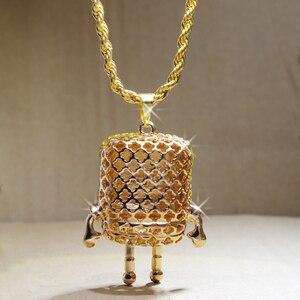 Image 2 - Karopel De Spongebob Squarepants Hangers Hip Hop Retro Cartoon Ketting Iced Out Gold Touw Mens Chain Bling