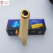 цена на Saxophone Promotional Printed Custom Customized Saxophone Custom LoGo Mouthpiece  Metal with Cap and Ligature Golden Plated