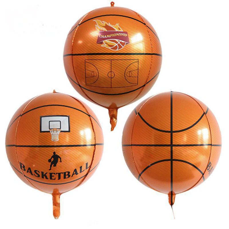 22 Inch 4D Basketball Foil Balloons Stereoscopic Football Globos Birthday Party Decorations Kids Football Ballon Inflatable Toys