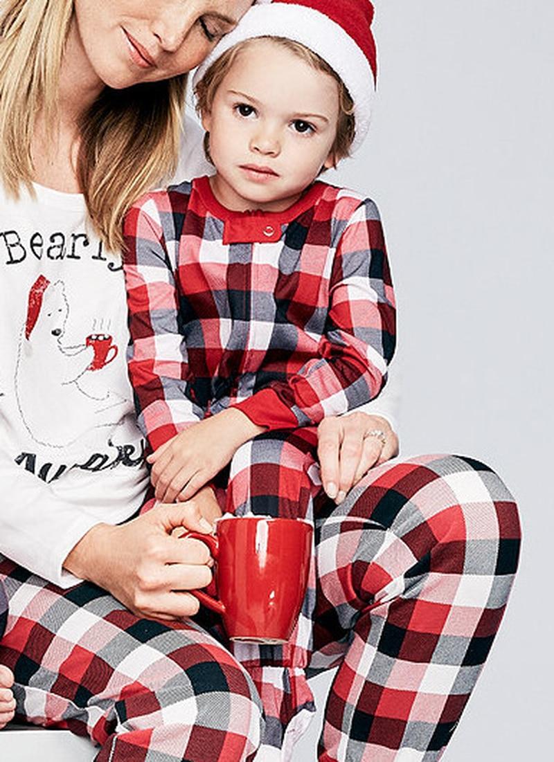 ครอบครัวชุดเสื้อผ้าคริสต์มาสชุดนอนชุดพ่อเด็กผู้หญิงลูกสาวกวางชุดนอนชุดนอน Xmas PJs ชุด