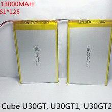 7,4 В 13000 мАч таблетки батареи DIY U30GT, U30GT1, U30GT2 двойной четырехъядерный планшетный ПК аккумулятор 33161125 Размер: 3,3*161*125 мм