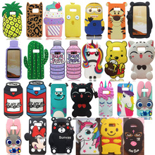 3D Cute Cartoon Soft Silicone Mouse Cat Stitch Batman Kitty Winnie Bear Phone Case Back Cover Skin For Samsung Galaxy S8 Plus