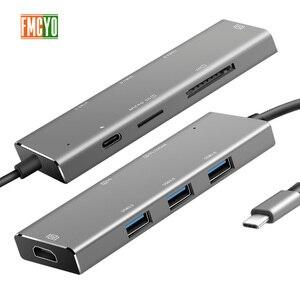 Image 3 - Dizüstü bilgisayar yerleştirme istasyonu All in One USB C HDMI kart okuyucu PD macbook adaptörü Samsung Galaxy S9/S8/ s8 + Tip C HUB