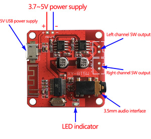 Image 4 - DC 3.7 5V Bluetooth 4.2 Audio Receiver 5w+5w Stereo Power Amplifier Board small stereo amp