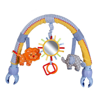 New Arrival Sozzy Baby Hanging Baby Blue Elephant And Pink Bunny Music Toy Baby Bed Stroller