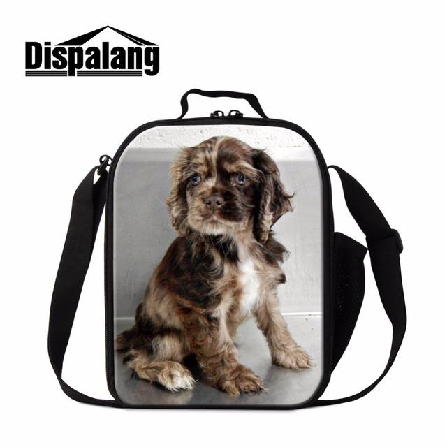 Dispalang contenedores de comida para niños de moda lindo perro animal print bolso más fresco bolsas de almuerzo nevera portátil para adultos enfriadores termo