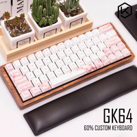 GK64 Mechanische tastatur 64key dye sub tastenkappen holz custom light rgb kirsche profil keycap sakura freies verschiffen