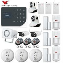 YoBang Security Wireless Home Safety WIFI GPRS GSM Alarm System APP Intruder Alarm Video IP Camera Smoke Fire  Sensor 433MHZ