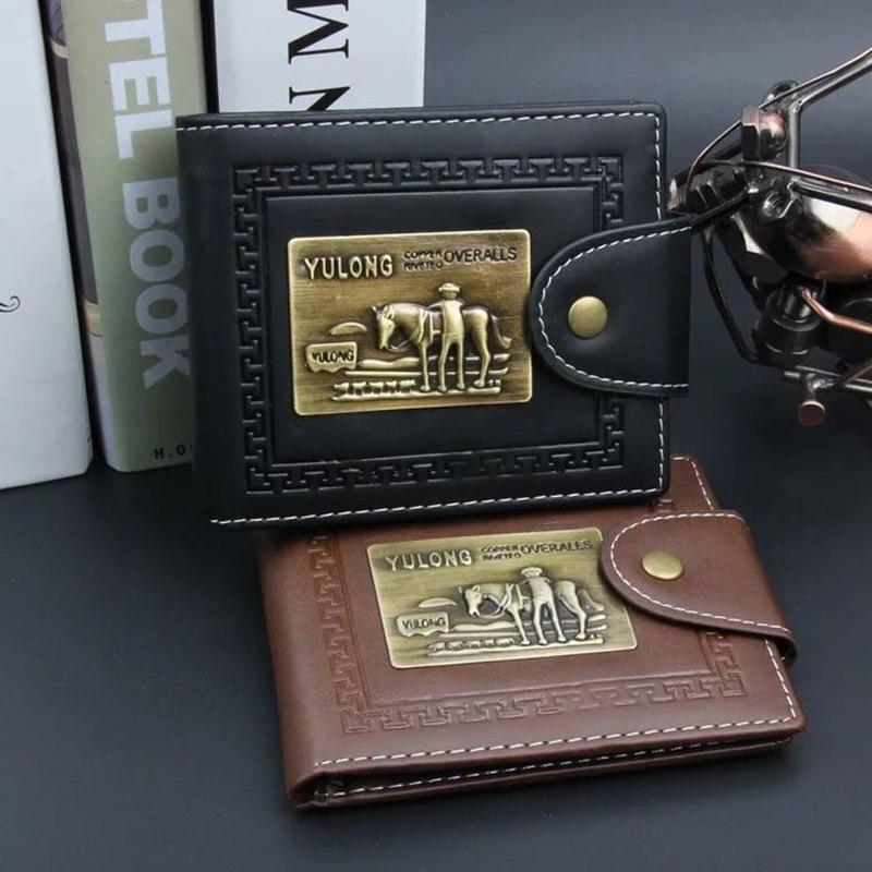 2017 Fashion men Leather Brand Luxury Wallet fashion Minimalist Short Slim Male Purses Money Clip Credit Card Dollar Price Porto