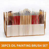 38Pcs/set Multifunction Oil Paint Brush Set Nylon Hair Brushes With Pencil Bag Watercolor/Acrylic/Oil Painting Brush For Drawing
