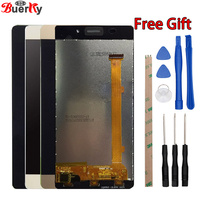 BKparts 1pcs Black White Gold LCD For Highscreen Power Ice LCD Display Touch Screen Glass Assembly
