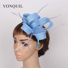 Fascinator DIY hair accessories hat with feather adorn headpiece elegant women's party Occasion chic headdress bridal decoration