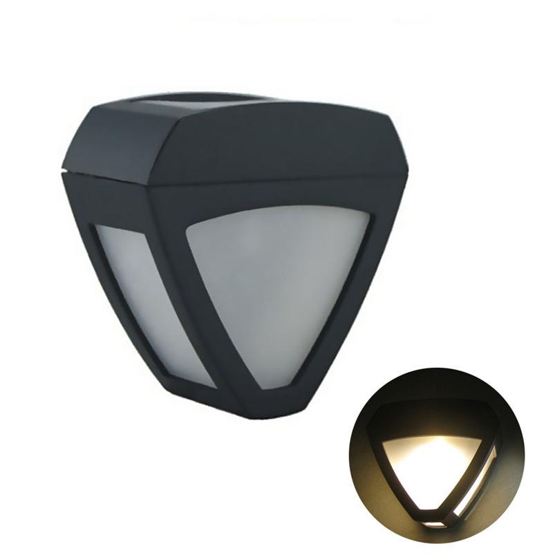 Triangle Heart Shaped Wall Sconce Solar Powered Wall Light Lamp Body