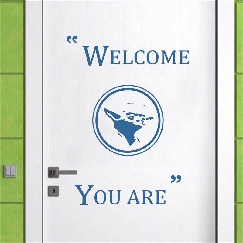 Us 4 76 31 Off Film Wand Aufkleber Star Wars Muster Zitate Willkommen Sie Sind Master Yoda Vinyl Wand Aufkleber Für Kinder Zimmer Tür Fenster