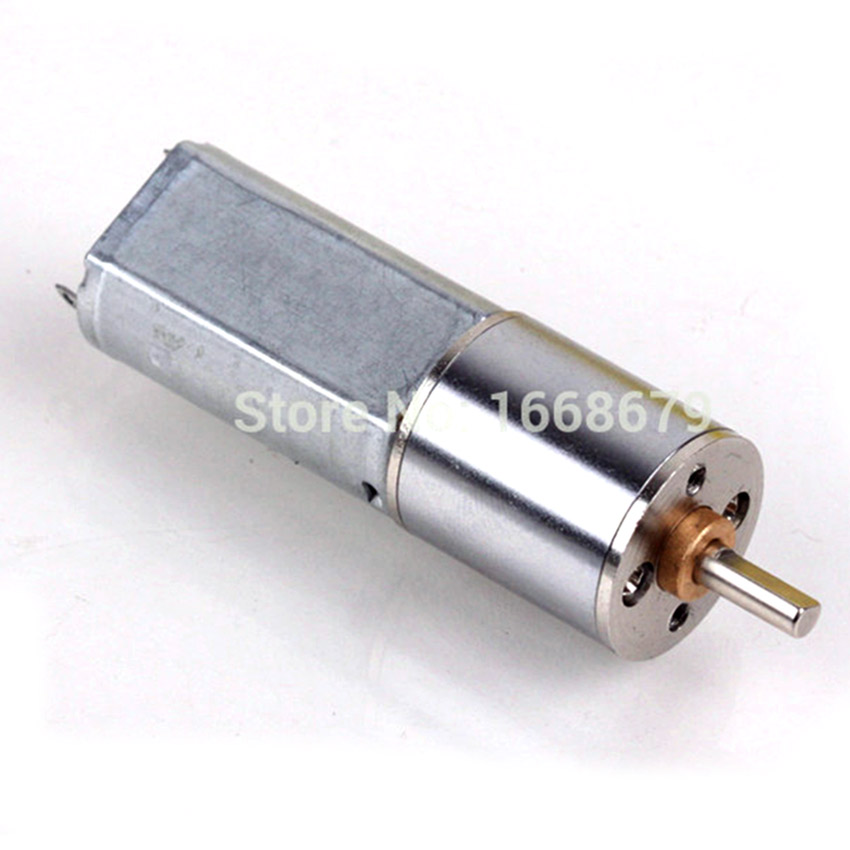 EBOWAN Reversible Mini DC Motor 12V 100RPM/6V <font><b>50</b></font> <font><b>RPM</b></font> Geared Motor for electric vehicle car electric toothbrush image