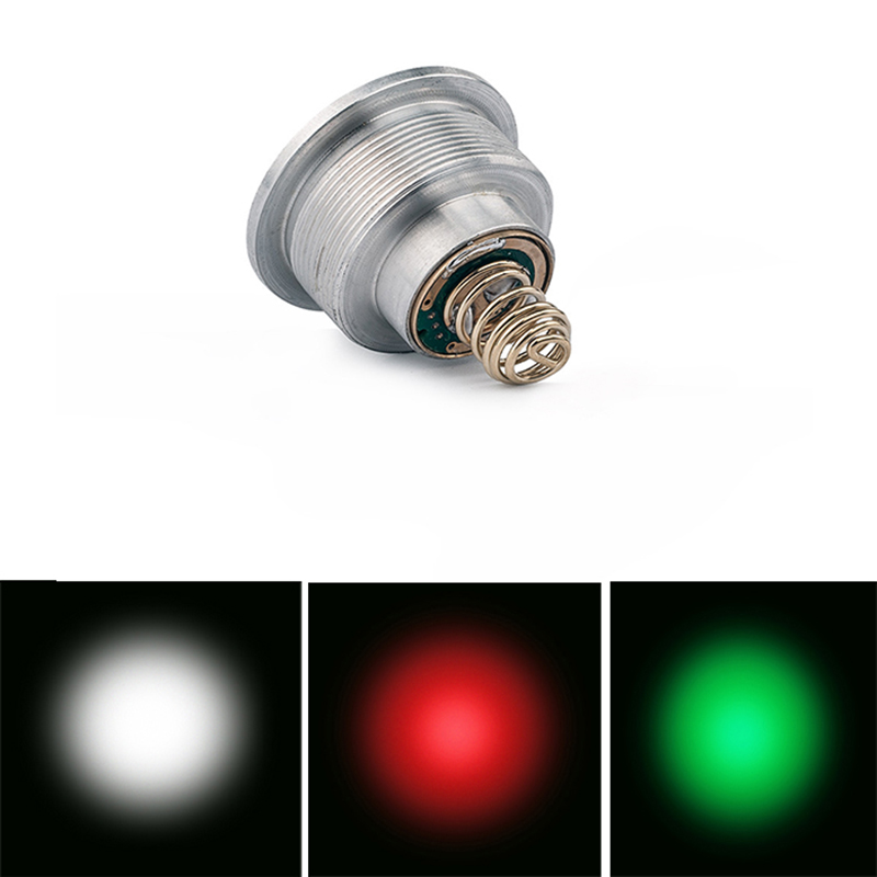 UniqueFire 3 Modes Lamp Holder Colorful Light Cree XRE Led G/R/W Light Driver Drop In 1405-XRE Led Pill Fit For 1405 Flashlight