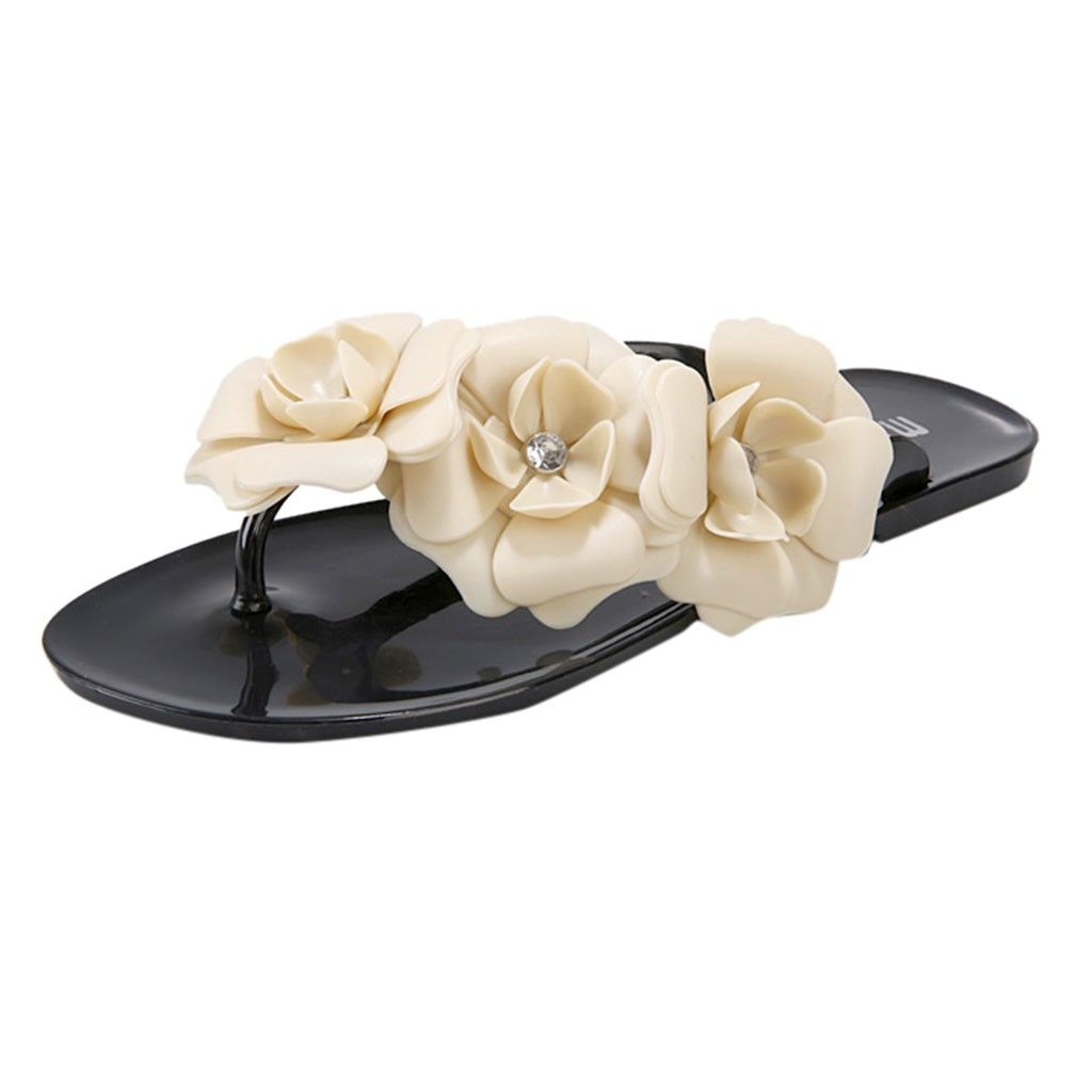 Women Slippers Candy Color  With Beautiful Camellia  Beach Sandals Flat Shoes fashion flat Round Toe slipper shoe outside Apr 10Women Slippers Candy Color  With Beautiful Camellia  Beach Sandals Flat Shoes fashion flat Round Toe slipper shoe outside Apr 10