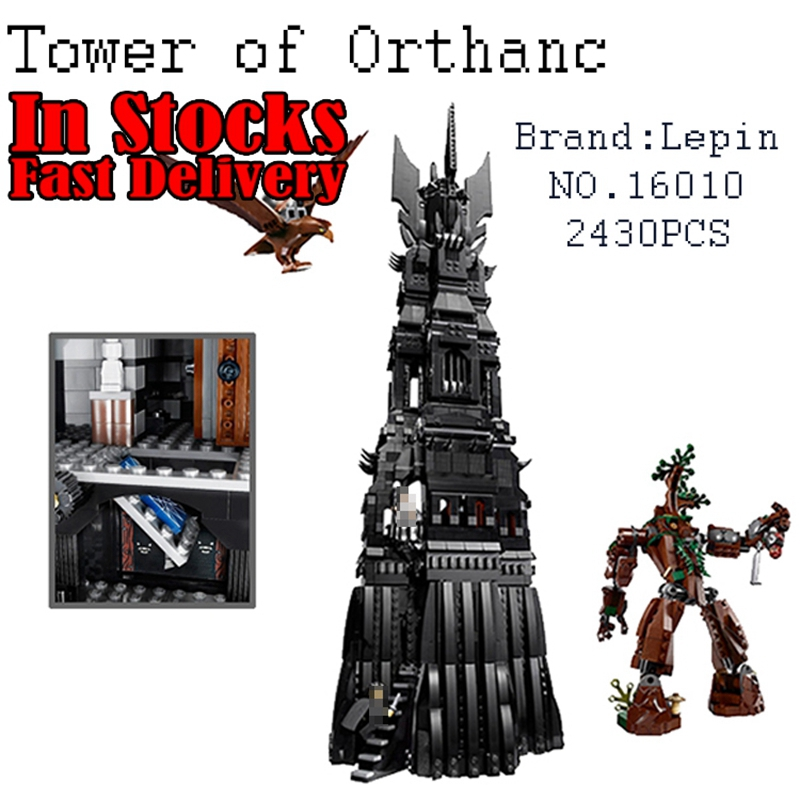 2016 LEPIN 16010 2430Pcs Lord of the rings Lord of the rings Model set Building Kits Model figures Compatible With 10237 16010 2430pcs lord of the rings model set building kits model mini compatible with 10237 toy lepin