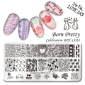 1 Pc BORN PRETTY Celebration Nail Stamping Plate Valentine's Day Manicure Nail Art Image Template BPX-L014