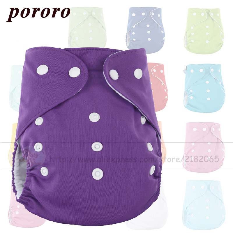 Pororo Wholesale Reusable 10 Pcs/Bag Baby Cloth Diapers Microfiber Reusable Boy Girl diaper Covers Factory Outlets Free Shipping free shipping baby boy minion set crochet suspender diaper cover
