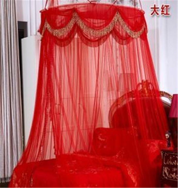 dhl free european style romantic red canopy mosquito bed net twin single bed insecticide treated hanging