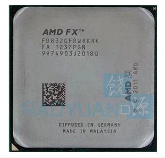 AMD FX-סדרת FX-8320 FX8320 FX 8320 3.5 GHz שמונה ליבות מעבד מעבד FD8320FRW8KHK שקע AM3 +
