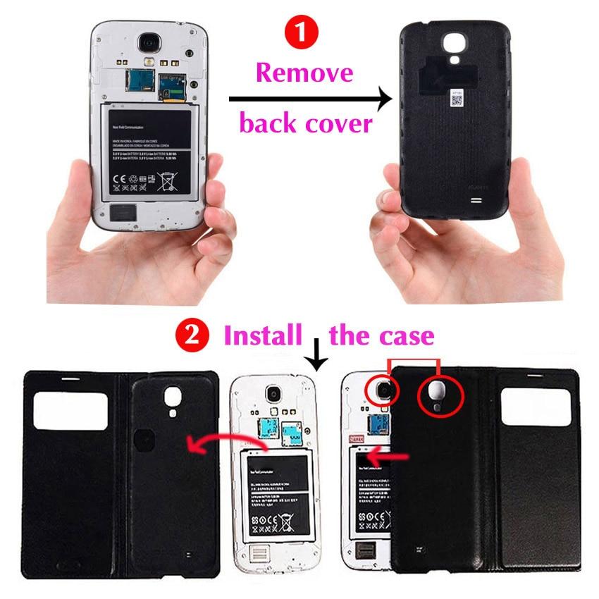Slim View Window Phone Case Läder Skyddande Flip Cover Holster För - Reservdelar och tillbehör för mobiltelefoner - Foto 6