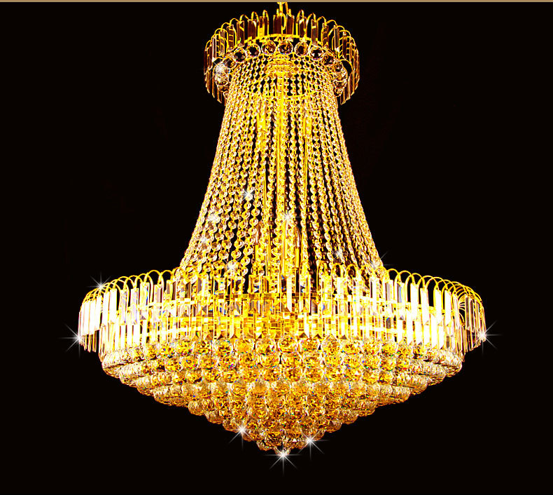 цена на European crystal chandelier double floor chandelier living room stairs chandeliers hotel villas project large chandeliers led