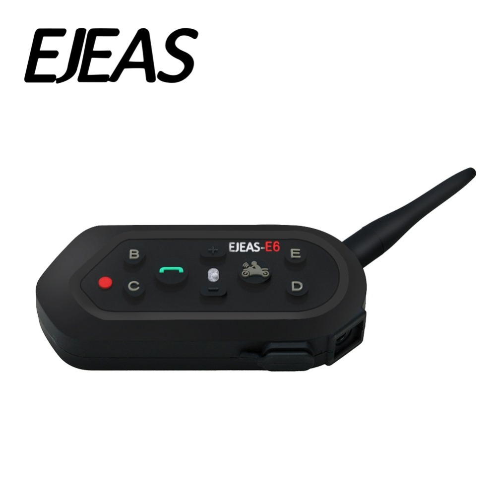 Ejeas E6 1200m VOX Bluetooth Motorola Intercom Headset pro Half Full Face KTM Helmy Podpora Hudba MP3 Motorradhelm Bluetooth
