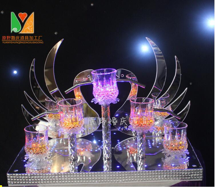 New wedding ceremony candlestick champagne tower items props.