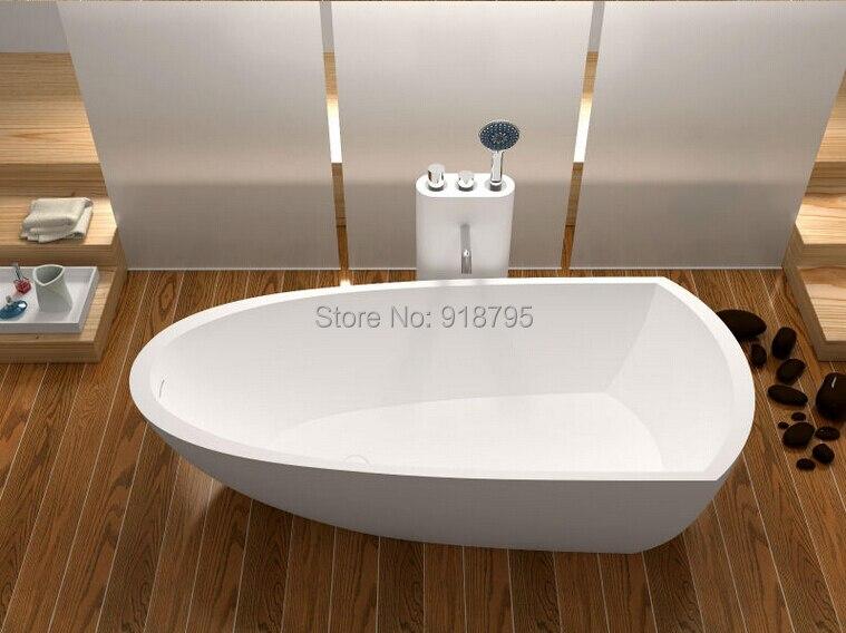1800x800x500mm Solid Surface Stone CUPC Approval Bathtub Rectangular  Freestanding Corian Matt Or Glossy Finishing Tub RS6592