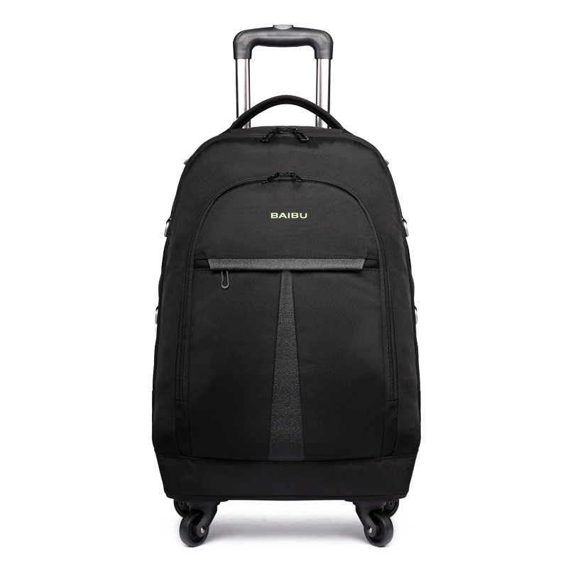 Large Capacity Trolley Backpack Waterproof Travel Backpack Multifunctional Wheeled Rolling Luggage Bags with Laptop Pocket