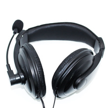 3.5mm Head mounted Wired Headphones With Microphone Business Headset Mic Earphone For Computer PC Gaming Stereo Skype