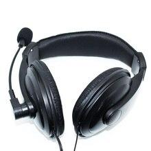 3.5mm casque filaire monté sur la tête avec Microphone casque daffaires micro écouteur pour ordinateur PC jeu stéréo Skype