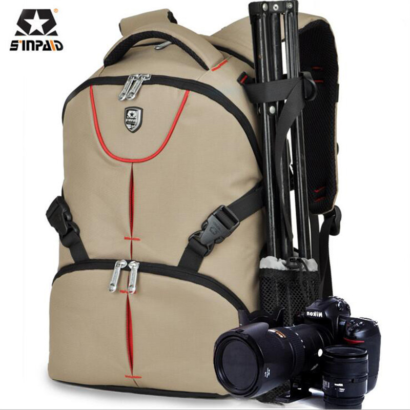 SINPAID SLR Camera Backpack Famous Brand Travel Backpacks High Quality Oxford Casual Men's Bag High-capacity Women's Bags M500 high quality authentic famous polo golf double clothing bag men travel golf shoes bag custom handbag large capacity45 26 34 cm