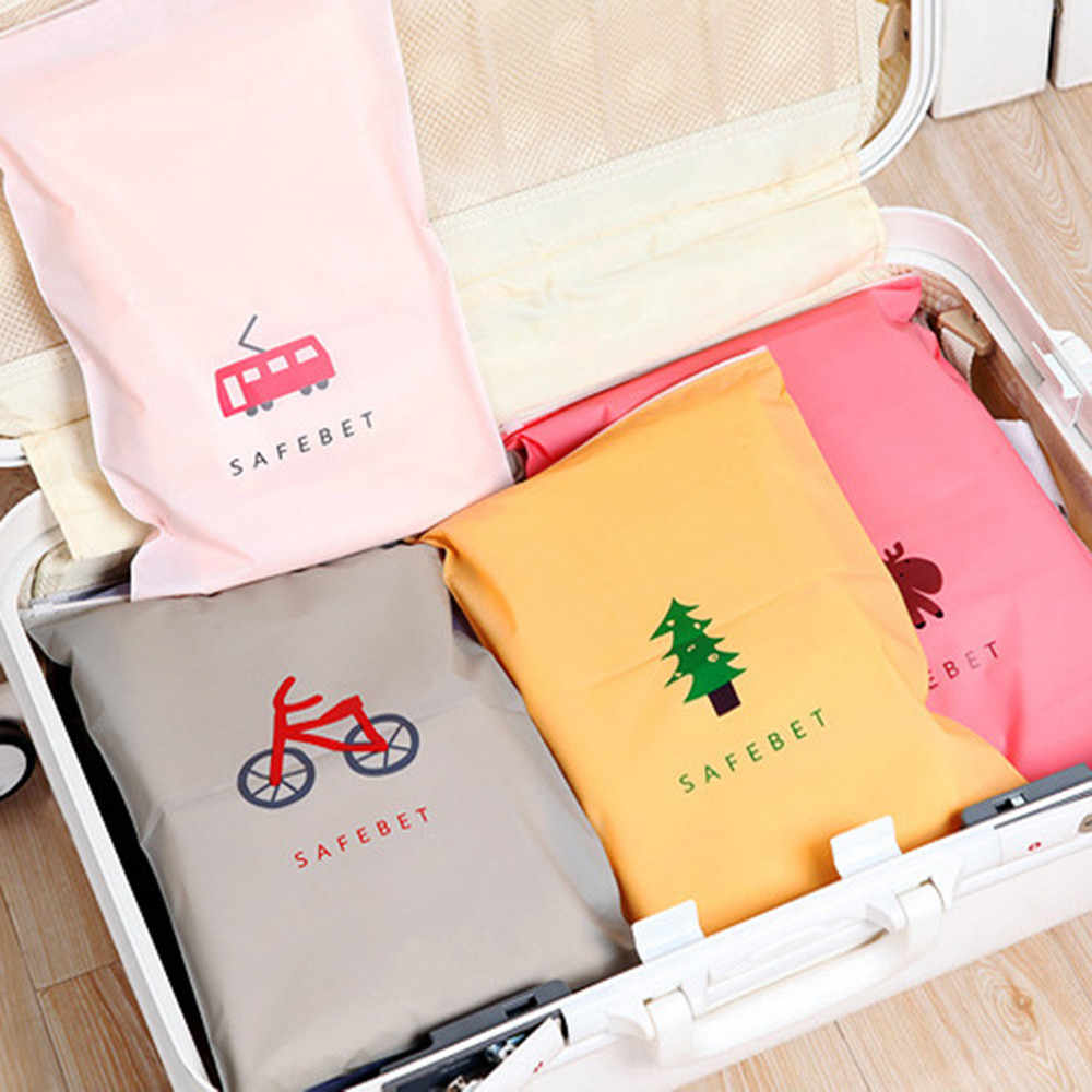 Fashion Storage Bags Colorful Double PE Traveling Bags 8 Colours Choose Water Resistant Cloth Shoes Underwear Organizer