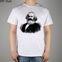 Celebrities Karl Marx   T-shirt Top Lycra Cotton Men T shirt New DIY Style