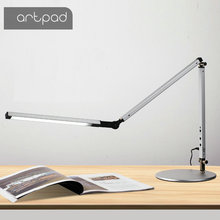 Artpad Modern LED Desk Lamp with Flexible Arm Dimmer Brightness Eye Care Work Office Table Clip Clamp Remote Control